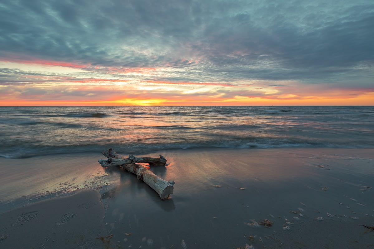 Darßer Weststrand bei Sonnenuntergang