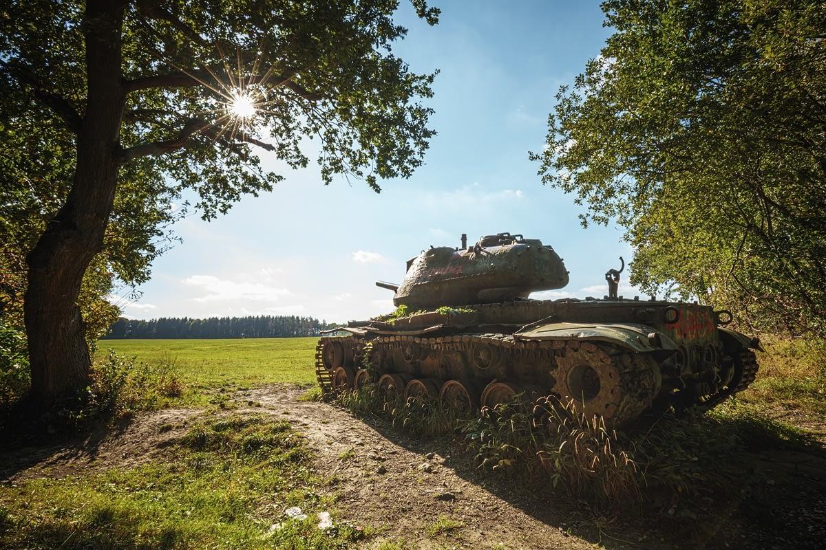 Panzerwracks Panzerfriedhof Buschmühle